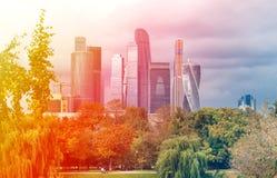 Красивый небоскреб зданий Стоковые Фотографии RF