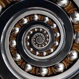 Красивый необыкновенный промышленный спиральный шарикоподшипник по часовой стрелке Dros Стоковое Изображение RF