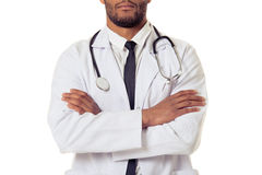 Красивый доктор американца Афро Стоковые Изображения