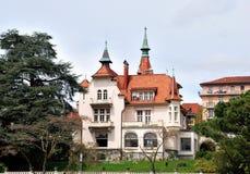 Красивый дом на женевском озере Стоковая Фотография