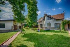 Красивый дом, ткани, квартира, роскошный дом, дизайн, спальня дизайна интерьера Стоковая Фотография RF