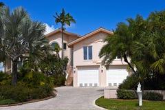 Красивый дом Флориды Стоковые Изображения RF