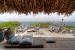 Красивый дом Palapa - вид на море Стоковое Изображение