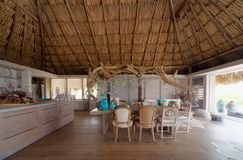 Красивый дом Palapa стоковое фото rf