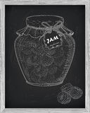 Красивый опарник домодельного варенья с поленикой Стоковые Фото