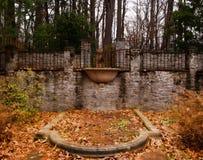 Красивый орнаментальный sunken сад стоковая фотография