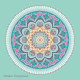 Красивый орнамент мандалы снежинки рождества вектора Стоковая Фотография