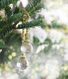 Красивый орнамент рождества на рождественской елке Стоковые Изображения RF