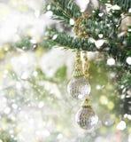 Красивый орнамент рождества на рождественской елке Стоковые Изображения