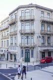 Красивый особняк в Лиссабоне - ЛИССАБОНЕ - ПОРТУГАЛИИ - 17-ое июня 2017 стоковое фото