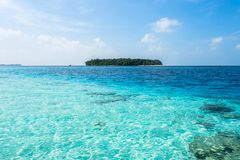 Красивый остров в Мальдивах Стоковое фото RF