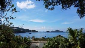 Красивый остров, залив отбития, Гонконг стоковая фотография rf