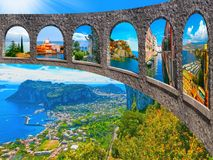 Красивый остров Капри стоковые фотографии rf