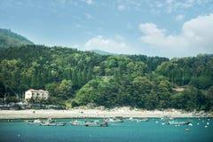 Красивый остров Кореи, Йосу-si, Jeollanam-делает, Корея Стоковое Изображение