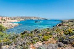 Красивый остров Comino, Мальты Стоковая Фотография