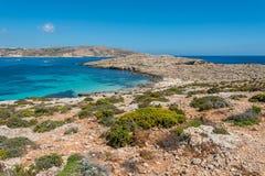 Красивый остров Comino, Мальты Стоковая Фотография RF