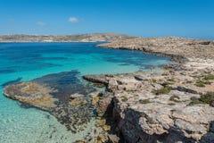 Красивый остров Comino, Мальты Стоковые Изображения