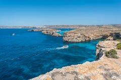 Красивый остров Comino, Мальты Стоковое Фото