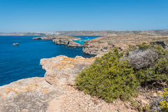 Красивый остров Comino, Мальты Стоковое Изображение RF