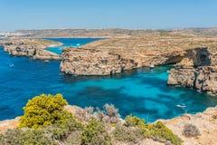 Красивый остров Comino, Мальты Стоковые Фото