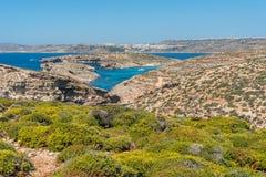 Красивый остров Comino, Мальты Стоковое фото RF