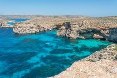 Красивый остров Comino, Мальты Стоковые Изображения RF