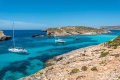 Красивый остров Comino, Мальты Стоковое Изображение