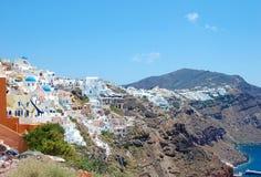 Красивый остров Santorini стоковое фото rf