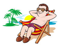 Красивый отдых на пляже Стоковое Изображение