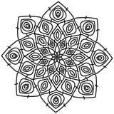 Красивый павлин мандалы в черно-белом Стоковое фото RF