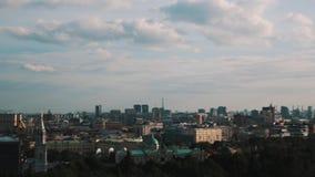Красивый панорамный взгляд Москвы на летний день акции видеоматериалы