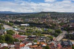 Красивый панорамный вид Тбилиси, Грузии стоковое изображение rf