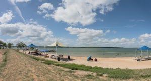 Красивый парк заводи Lynn пляжа с белым песком в грандиозной прерии, Tex Стоковая Фотография RF
