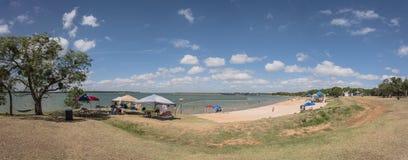 Красивый парк заводи Lynn пляжа с белым песком в грандиозной прерии, Tex Стоковое фото RF