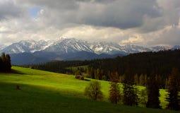 Красивый пейзаж больших горных пиков Горы Tatra Стоковая Фотография RF
