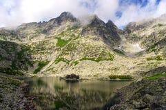 Красивый пейзаж больших горных пиков Стоковая Фотография