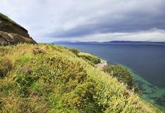 Красивый пейзаж вдоль Атлантического океана Стоковая Фотография RF