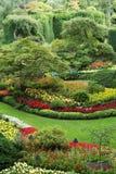 Красивый пейзаж в Butchart садовничает, Виктория, ДО РОЖДЕСТВА ХРИСТОВА Стоковая Фотография RF