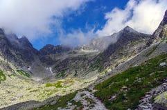 Красивый пейзаж горной тропы Tatry Словакия Стоковая Фотография