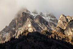 Красивый пейзаж горы от долины Fleres, около пропуска Brenner, Италия Стоковые Фотографии RF