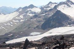 Красивый пейзаж гор Кавказа Стоковые Фото
