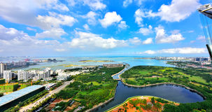 Красивый пейзаж западного побережья Haikou Стоковое фото RF