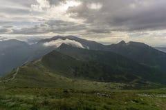 Красивый пейзаж западных гор Tatra Стоковое Изображение RF