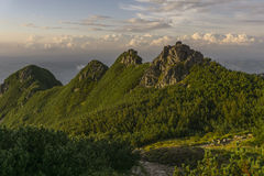 Красивый пейзаж западных гор Tatra Стоковая Фотография RF