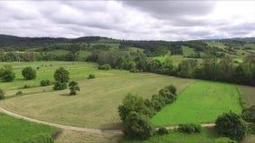Красивый пейзаж лета от антенны высоты медленной акции видеоматериалы