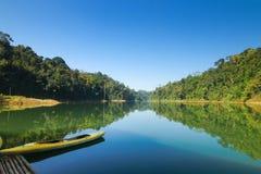 Красивый пейзаж на королевском лесе Belum тропическом в Малайзии Стоковая Фотография