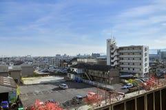 Красивый пейзаж Осака стоковое изображение