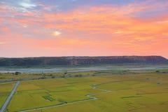 Красивый пейзаж страны рисовых полей Стоковая Фотография RF