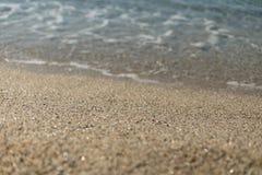Красивый песок на пляже Kleopatra в Alanya Турции Стоковые Изображения