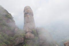 Красивый пик в тумане-Lingshan Shangrao Стоковые Изображения